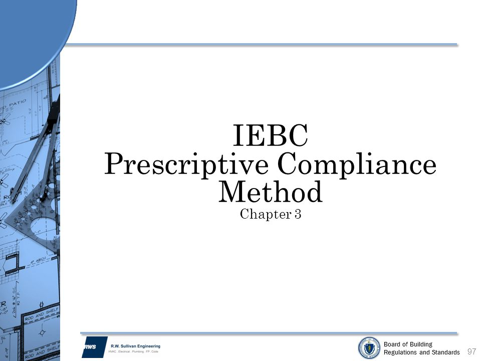 Prescriptive Compliance Method Chapter 3