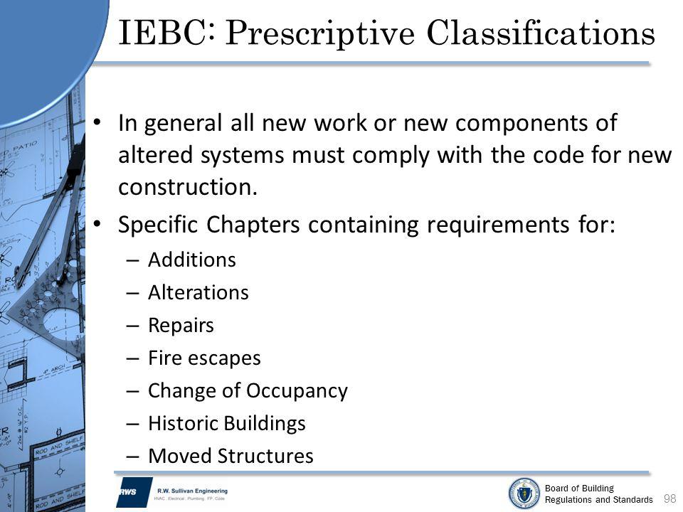IEBC: Prescriptive Classifications