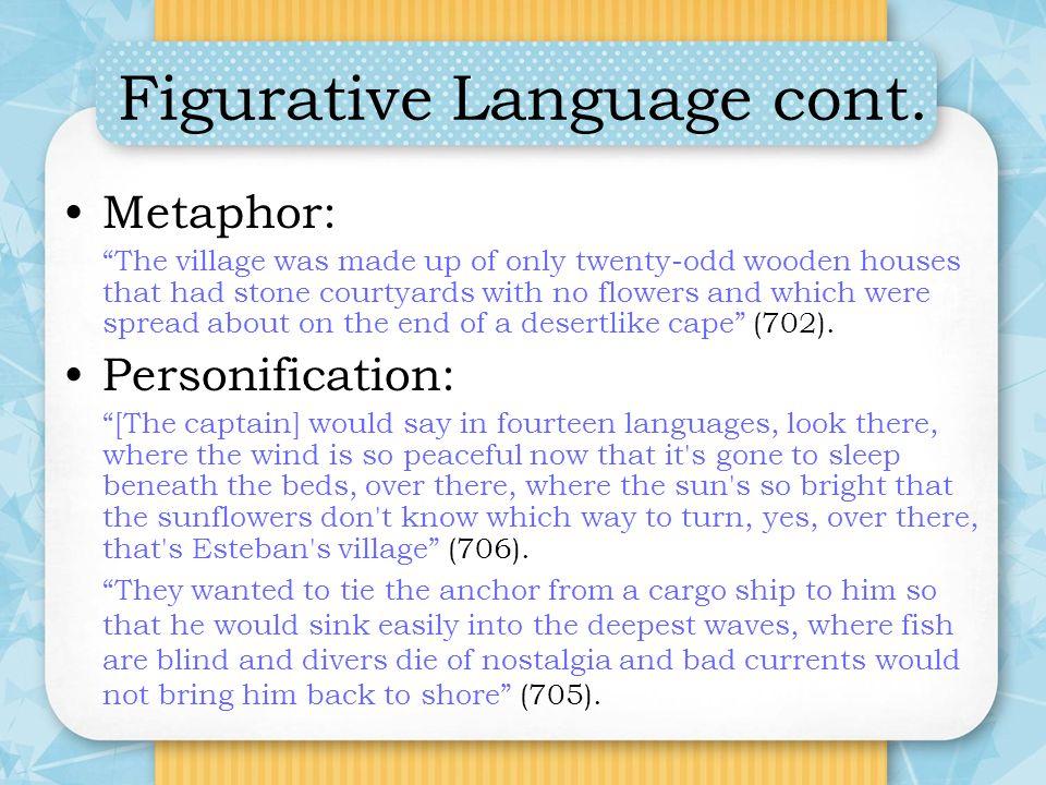 Figurative Language cont.