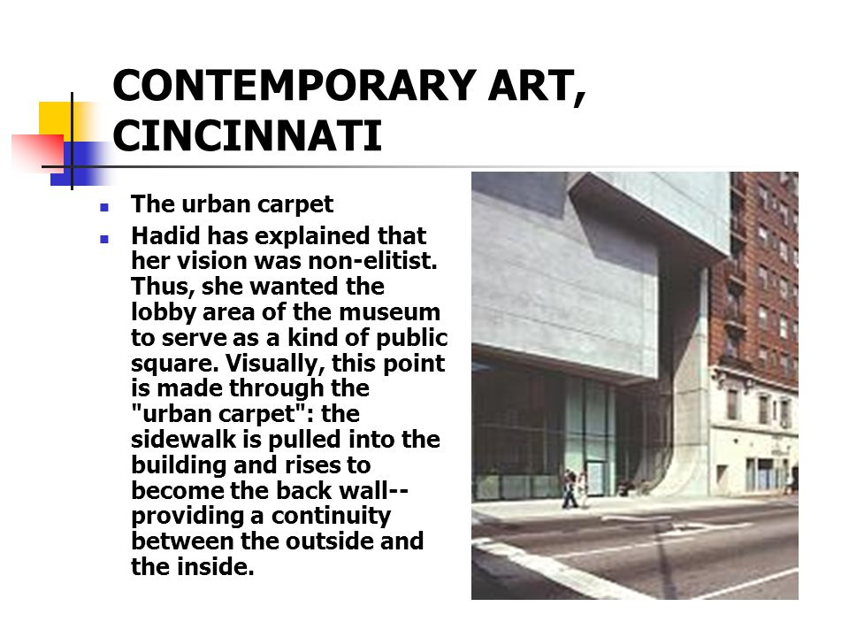 CONTEMPORARY ART, CINCINNATI