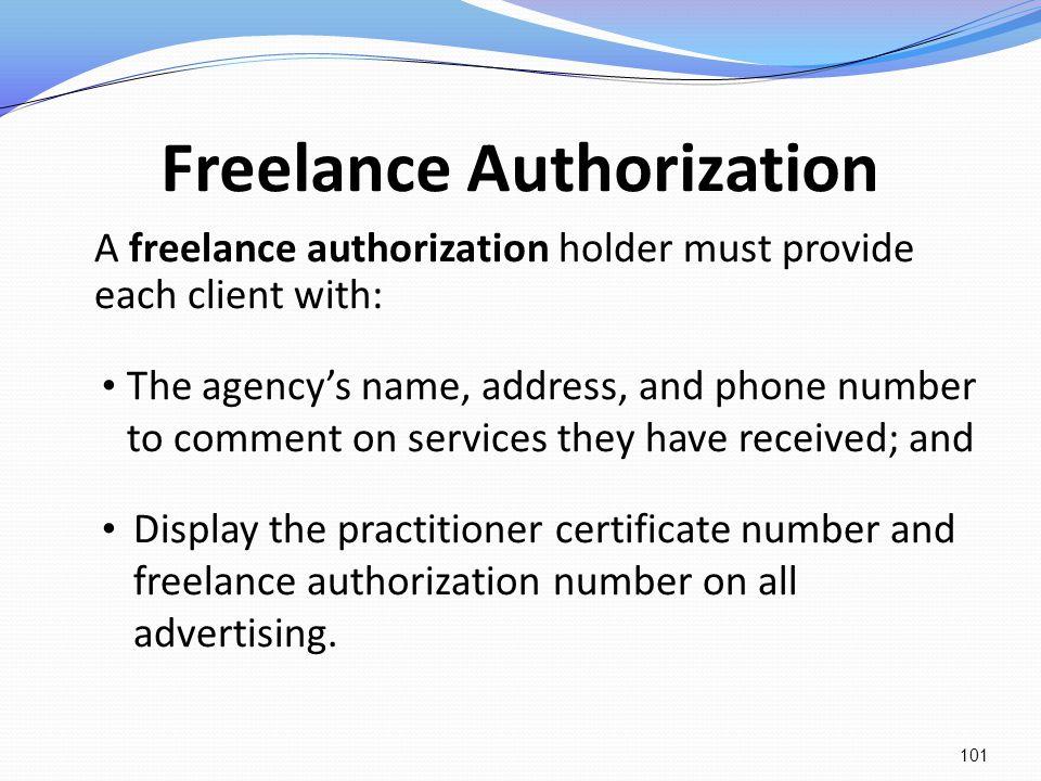 Freelance Authorization