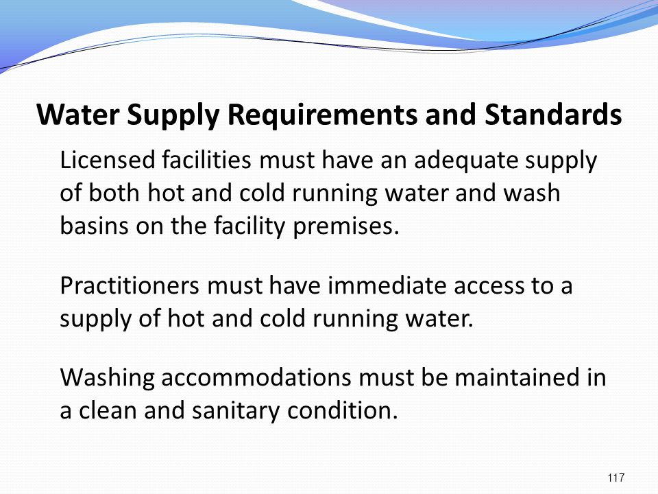 Water Supply Requirements and Standards