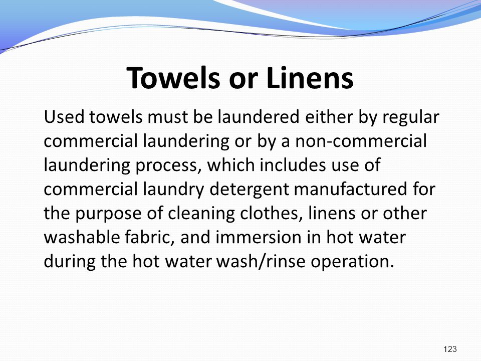 Towels or Linens