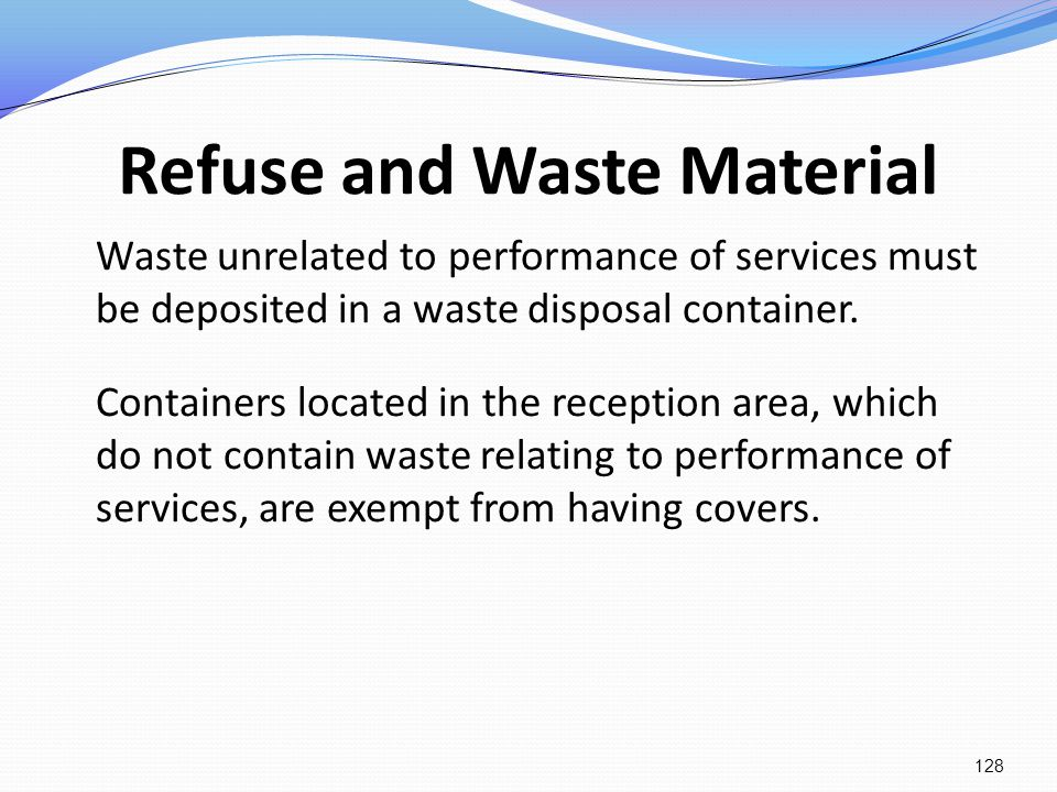 Refuse and Waste Material