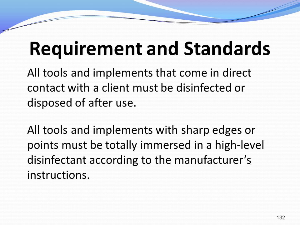 Requirement and Standards