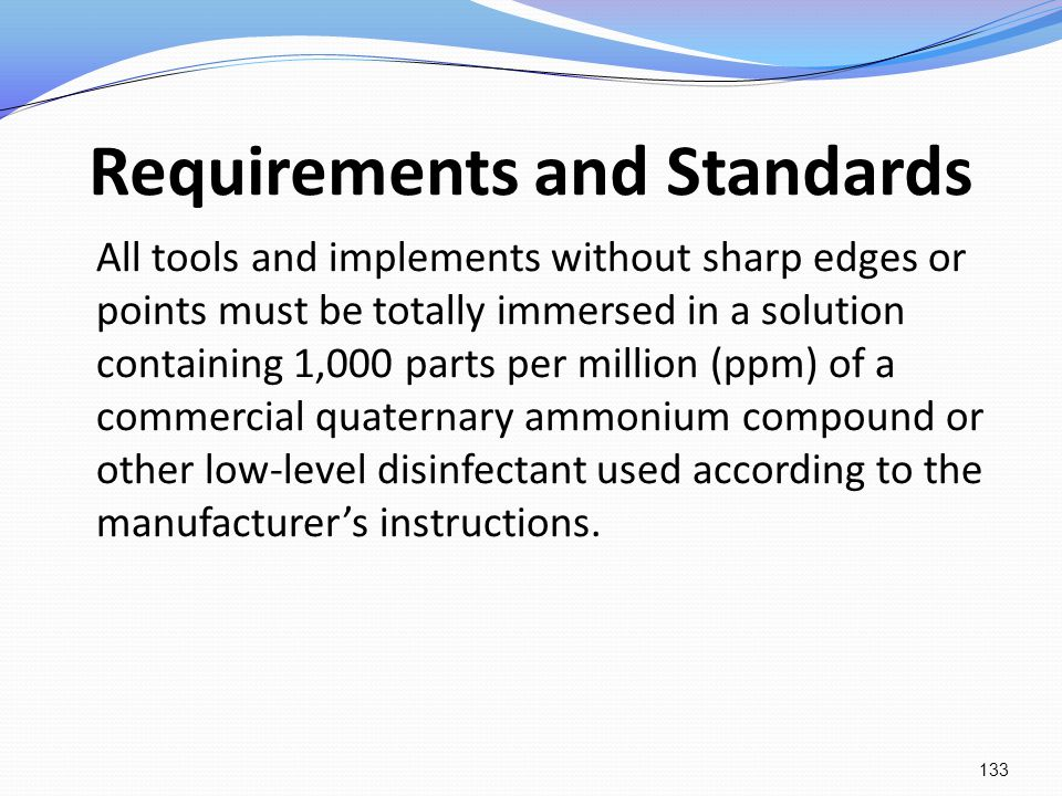 Requirements and Standards