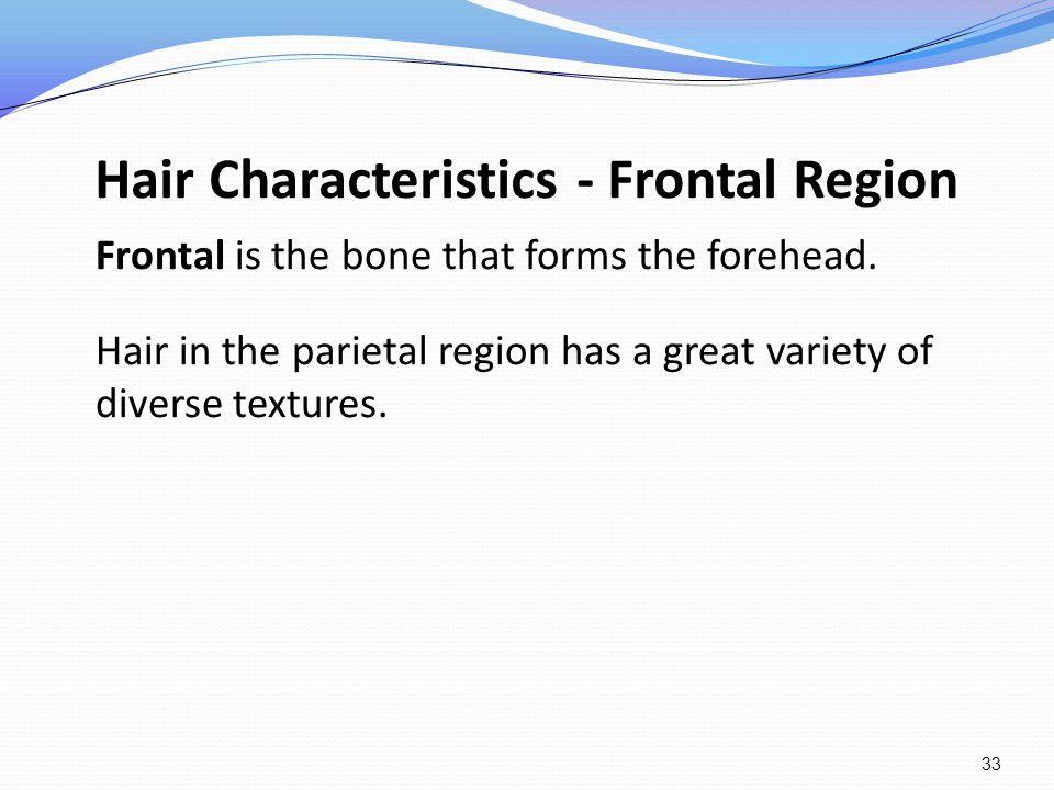 Hair Characteristics - Frontal Region