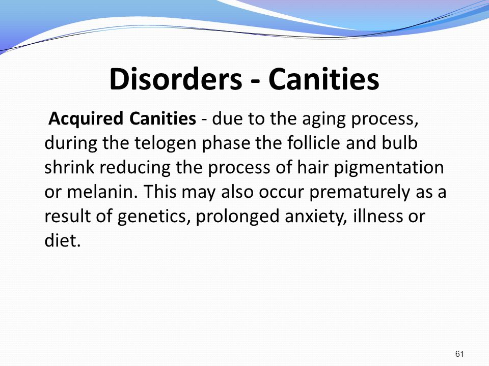 Disorders - Canities