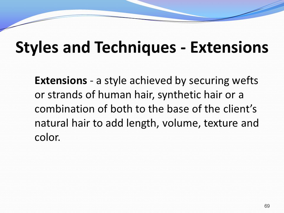Styles and Techniques - Extensions