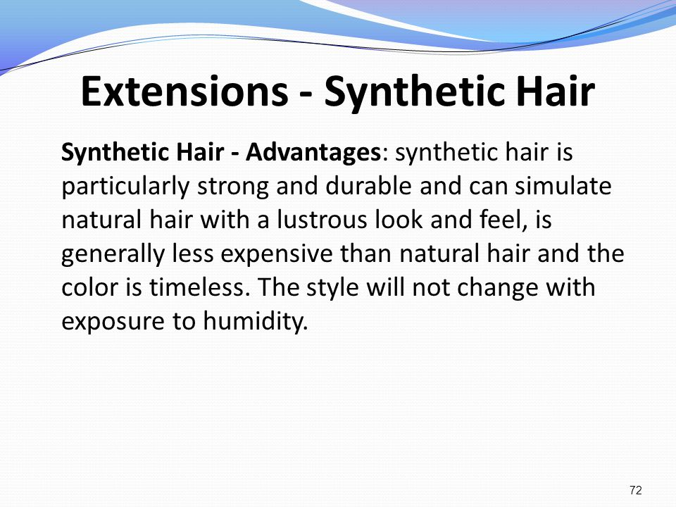 Extensions - Synthetic Hair