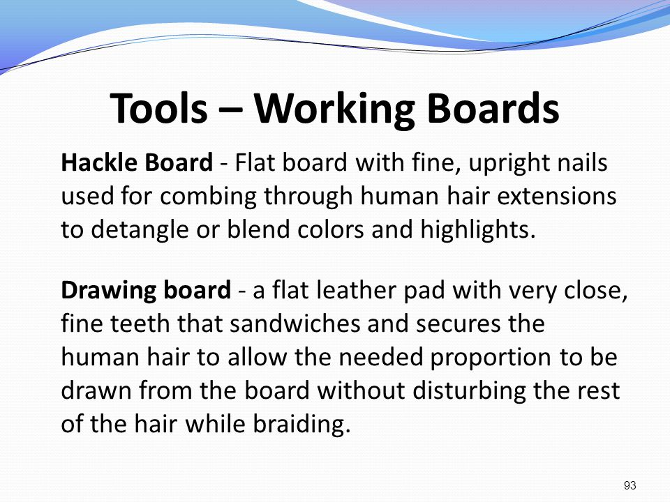 Tools – Working Boards