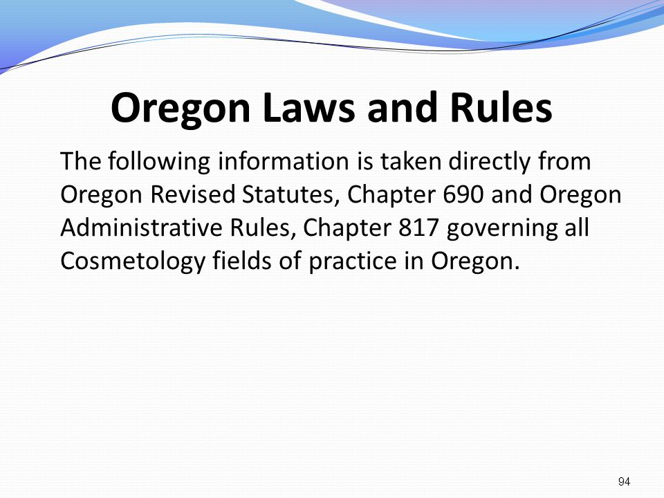 Oregon Laws and Rules