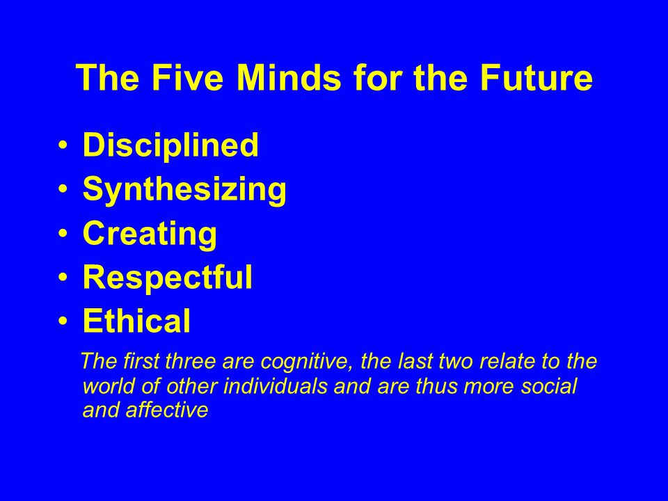 The Five Minds for the Future