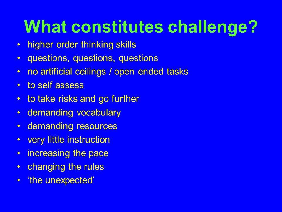 What constitutes challenge