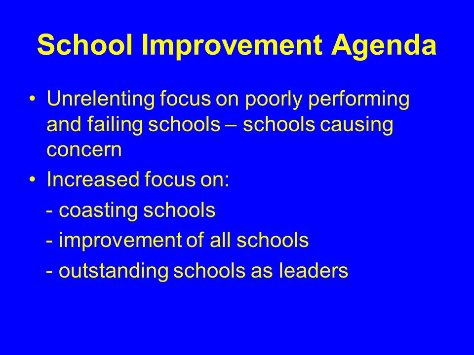 School Improvement Agenda