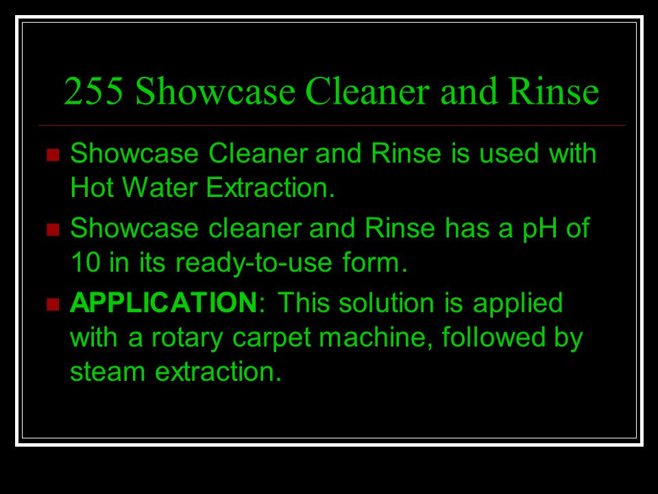 255 Showcase Cleaner and Rinse