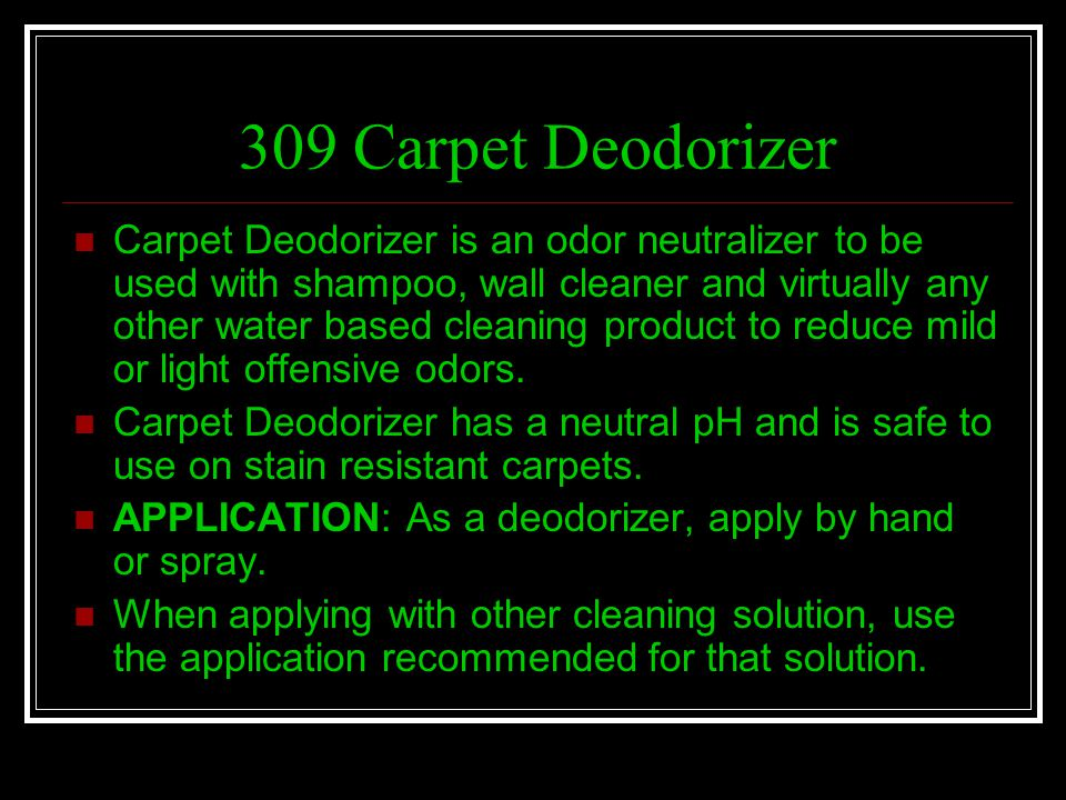 309 Carpet Deodorizer