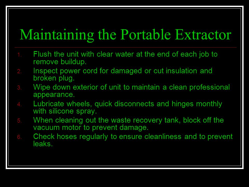 Maintaining the Portable Extractor