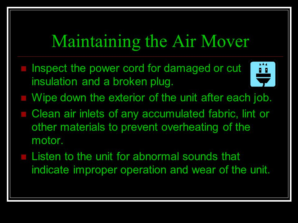 Maintaining the Air Mover