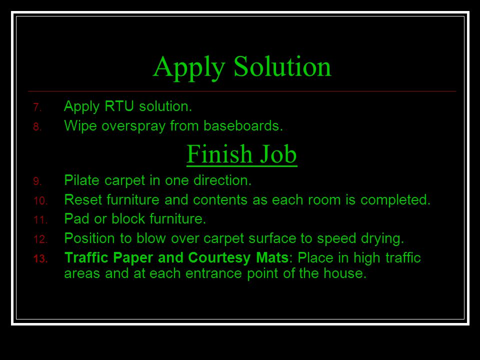 Apply Solution Finish Job Apply RTU solution.