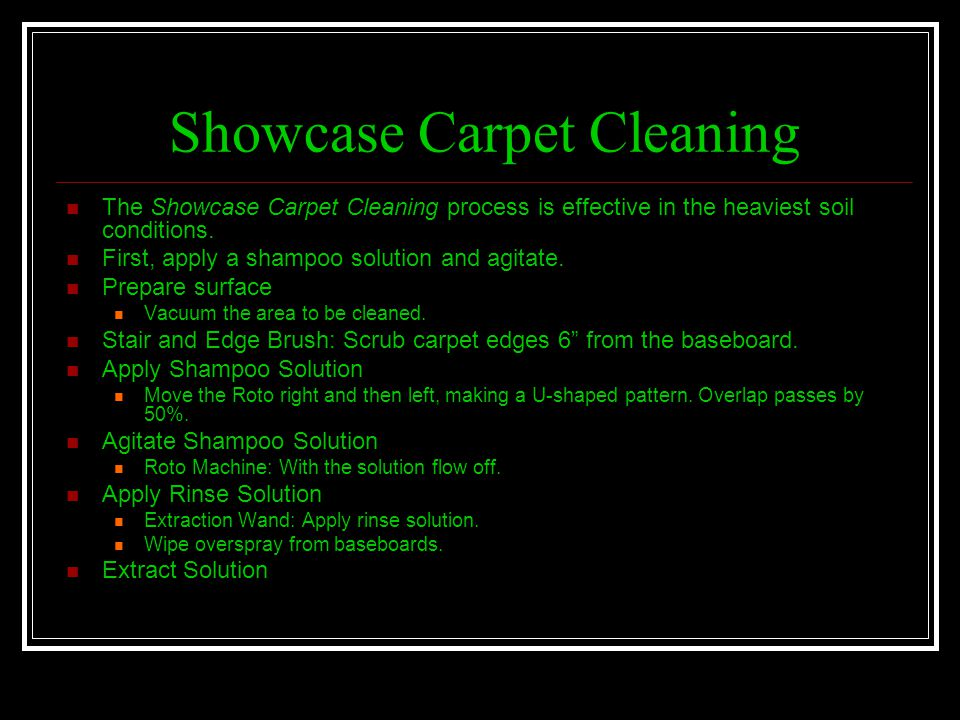 Showcase Carpet Cleaning