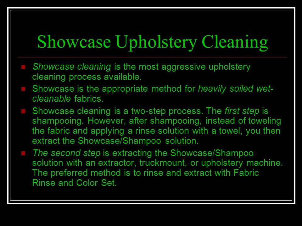 Showcase Upholstery Cleaning