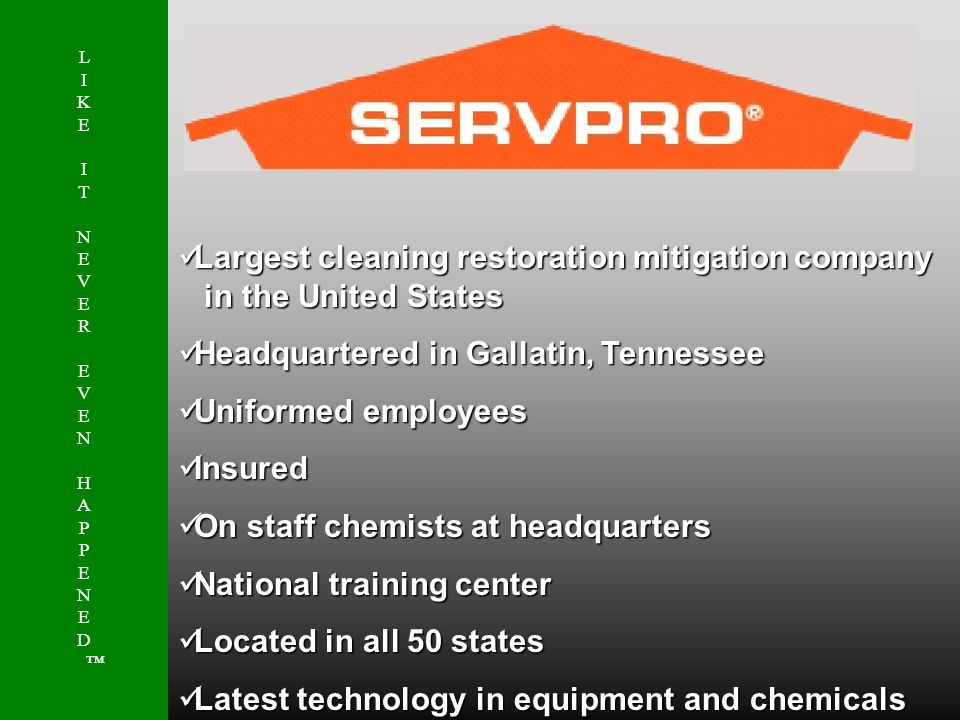 Largest cleaning restoration mitigation company in the United States