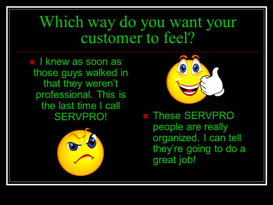 Which way do you want your customer to feel