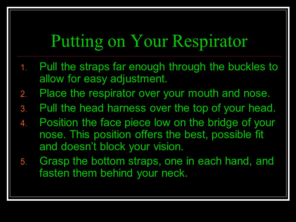 Putting on Your Respirator
