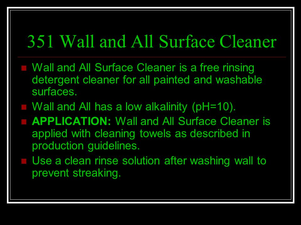 351 Wall and All Surface Cleaner