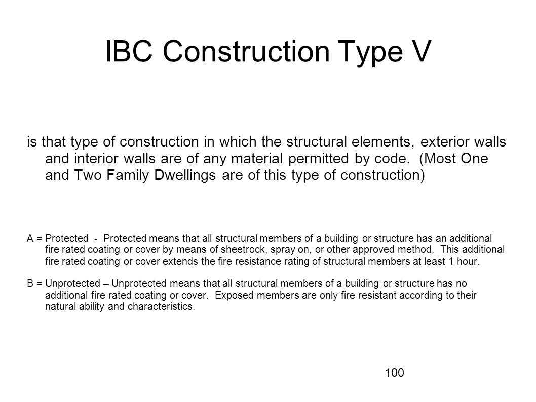 IBC Construction Type V