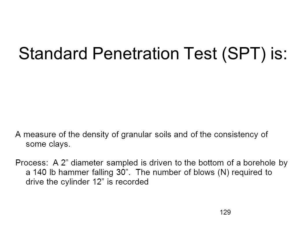 Standard Penetration Test (SPT) is: