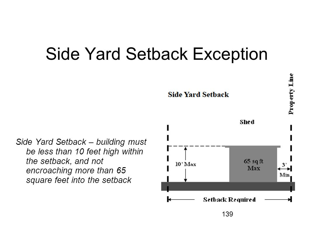 Side Yard Setback Exception