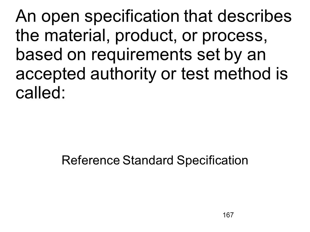 Reference Standard Specification