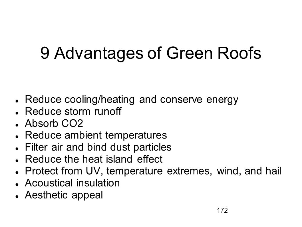 9 Advantages of Green Roofs