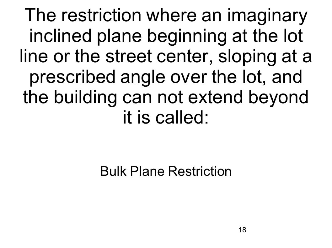 Bulk Plane Restriction