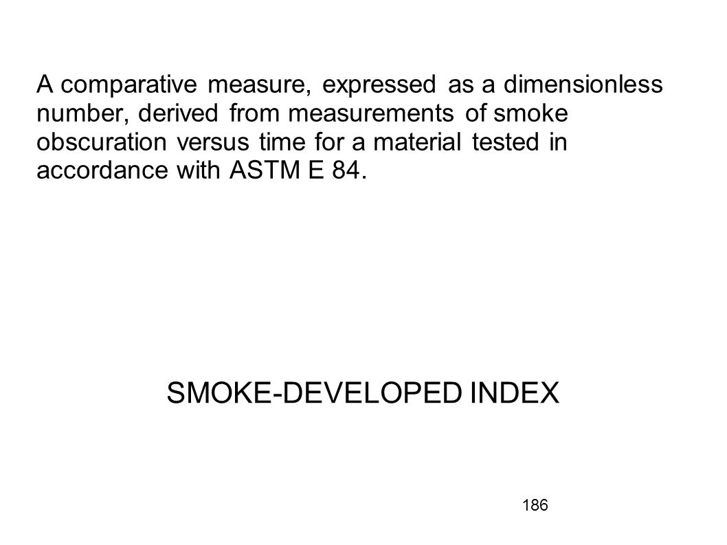 SMOKE-DEVELOPED INDEX