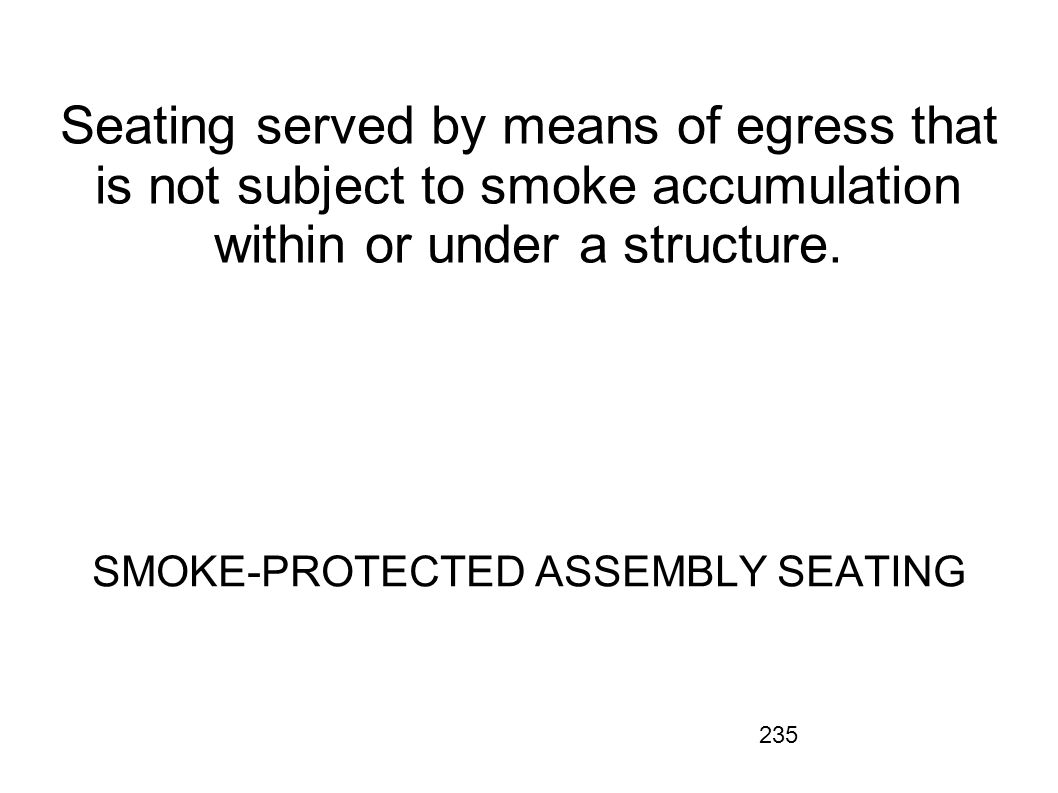 SMOKE-PROTECTED ASSEMBLY SEATING