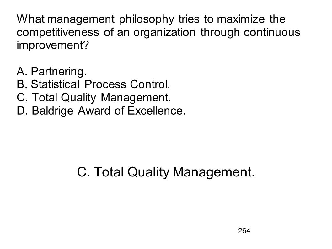 C. Total Quality Management.