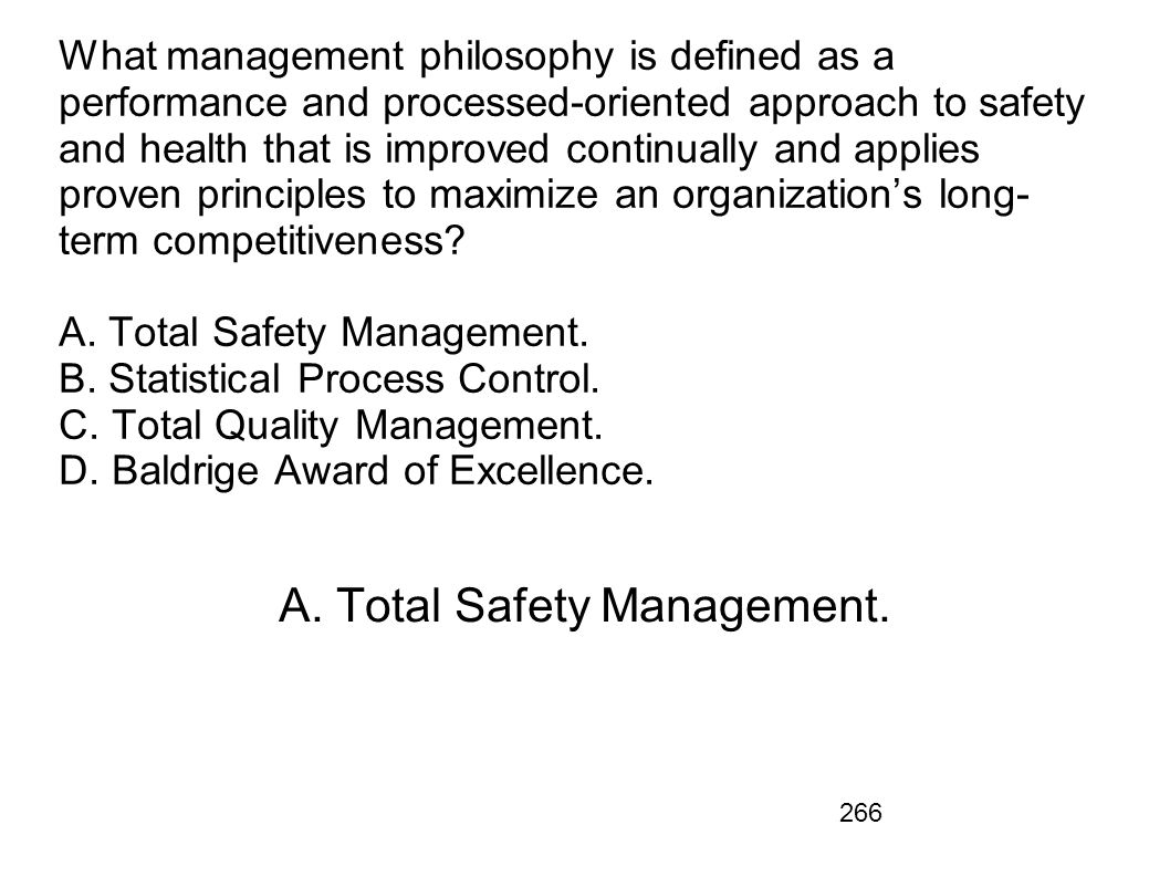A. Total Safety Management.