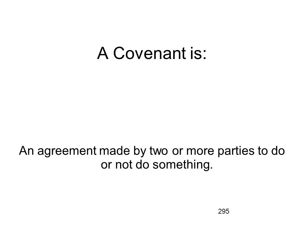An agreement made by two or more parties to do or not do something.