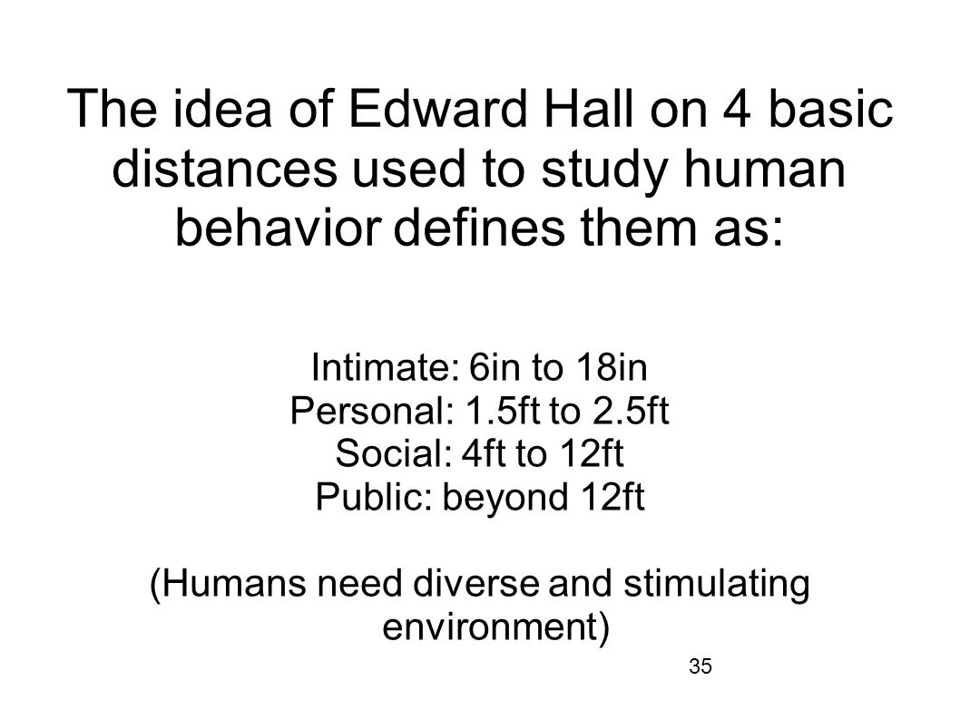 (Humans need diverse and stimulating environment)
