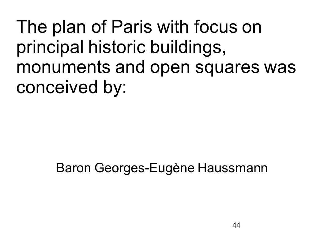 Baron Georges-Eugène Haussmann