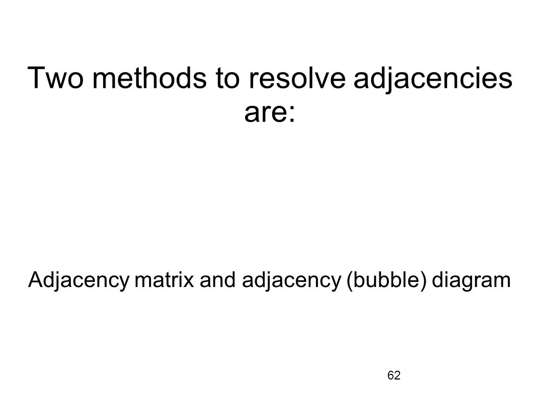 Two methods to resolve adjacencies are: