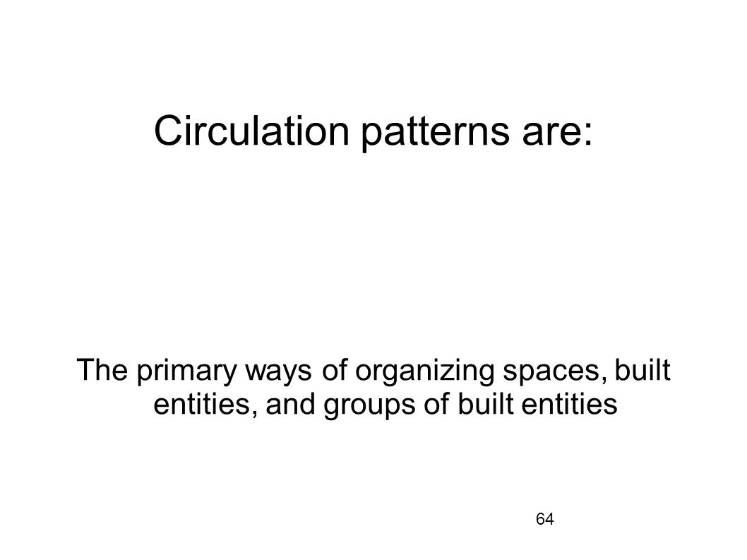 Circulation patterns are: