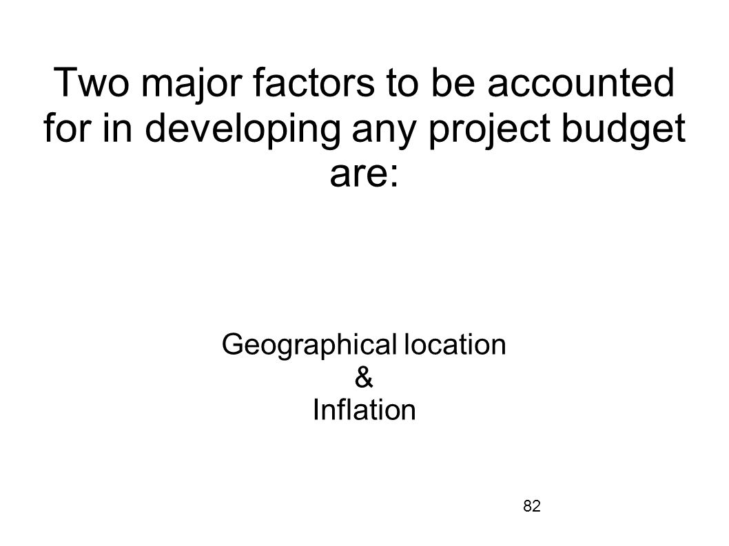 Geographical location & Inflation