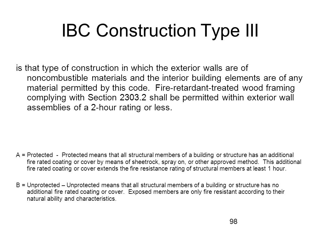 IBC Construction Type III