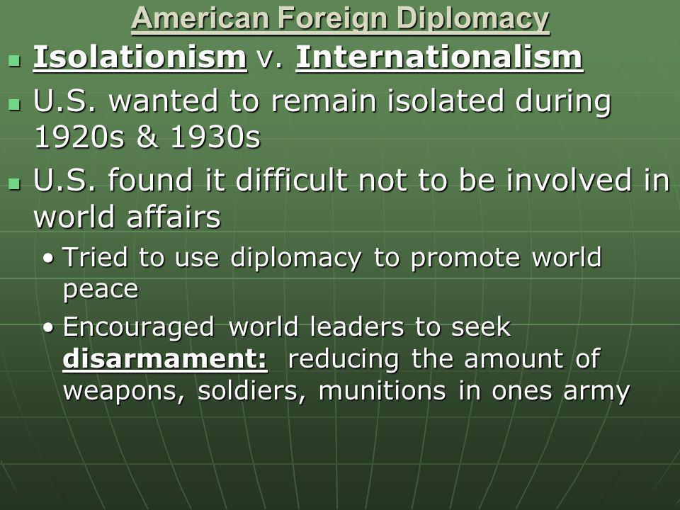 American Foreign Diplomacy