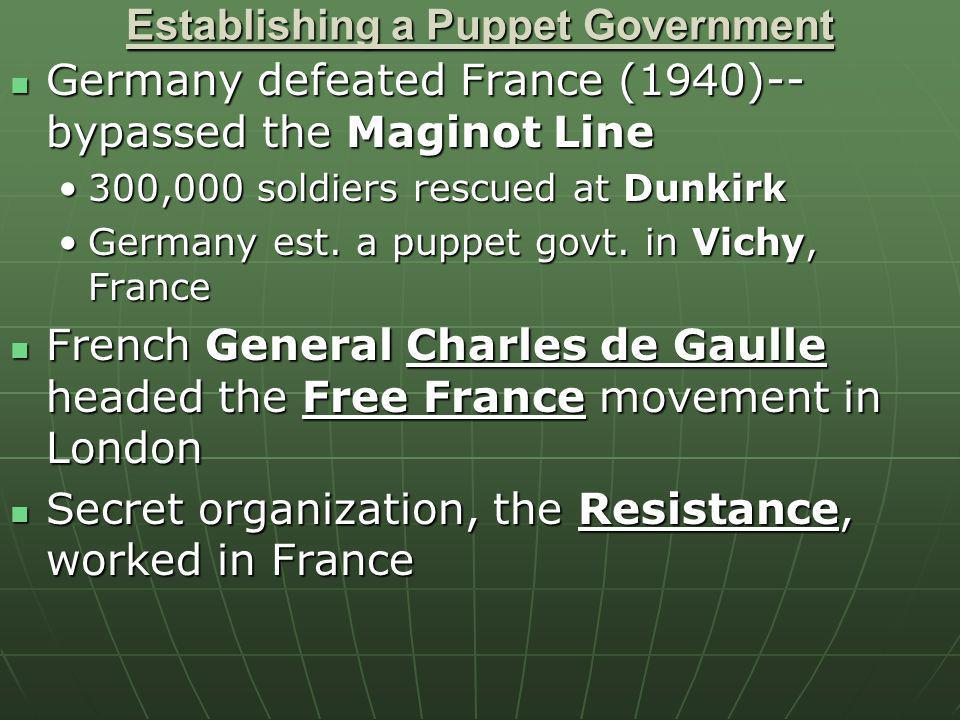 Establishing a Puppet Government