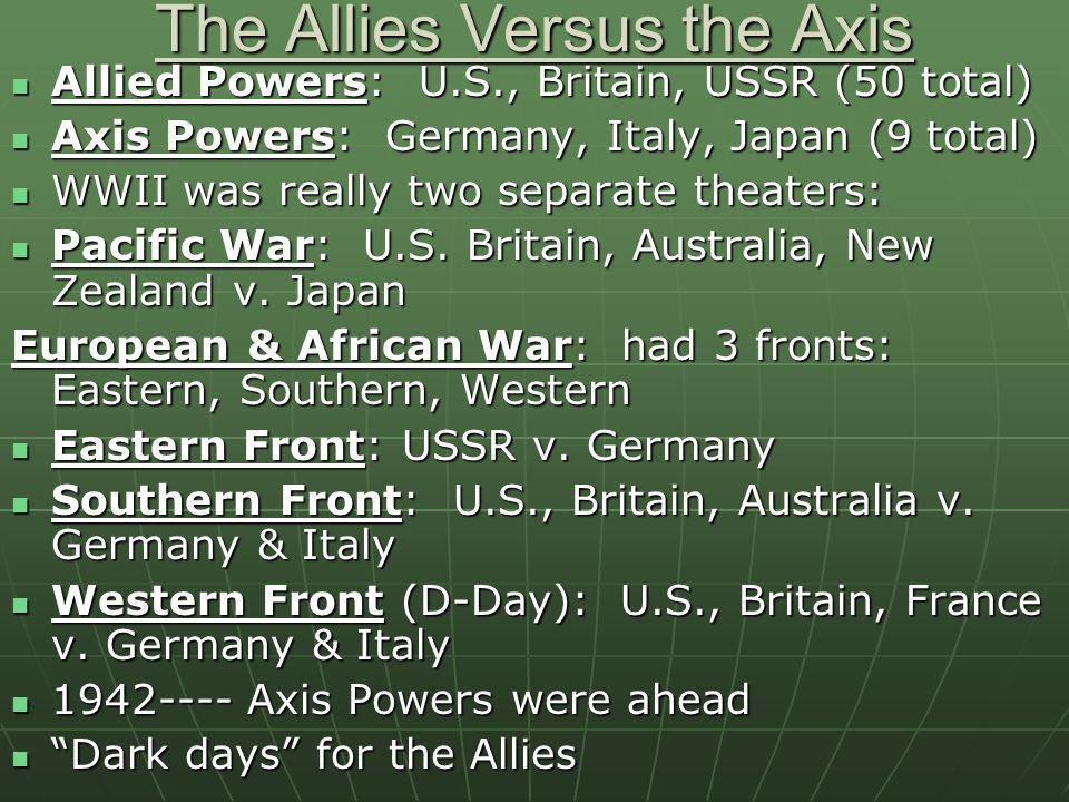The Allies Versus the Axis